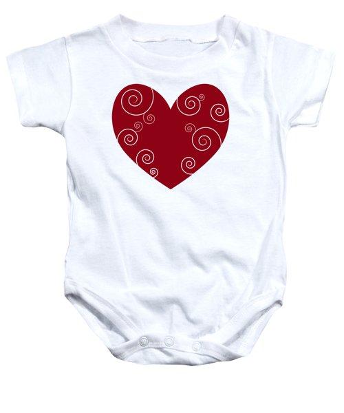 Red Heart Baby Onesie