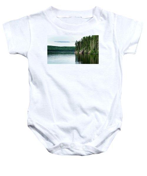 Red Lake Ontario Baby Onesie