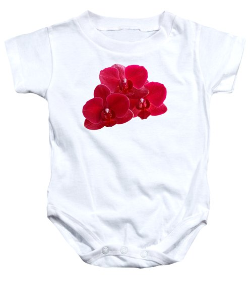 Red Orchid Trio Baby Onesie