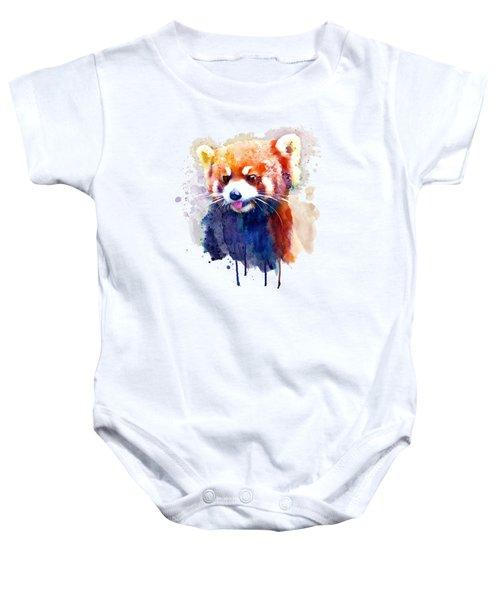 Red Panda Portrait Baby Onesie