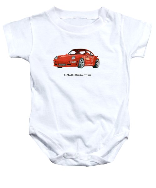 1997  Porsche 993 Twin Turbo R Baby Onesie