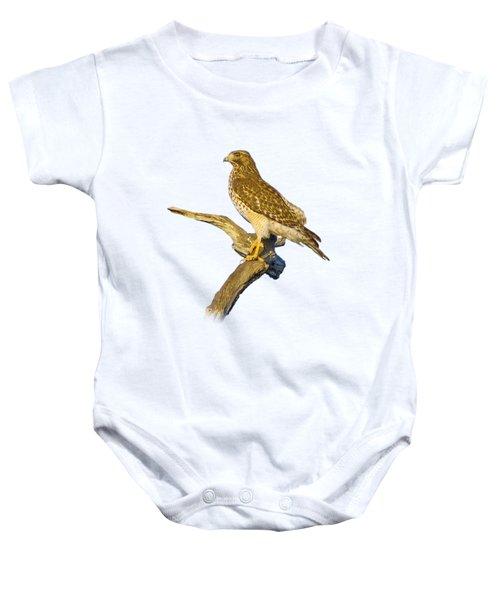 Red Shouldered Hawk Perch Baby Onesie