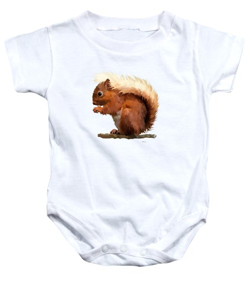 Red Squirrel Baby Onesie by Bamalam  Photography