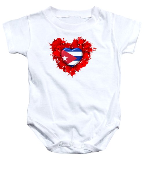 Red Stain Love To Cuba Baby Onesie