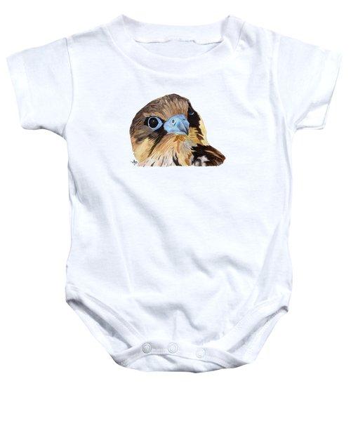 Red-tailed Hawk Portrait Baby Onesie