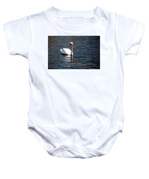 Reflecting Swan Baby Onesie