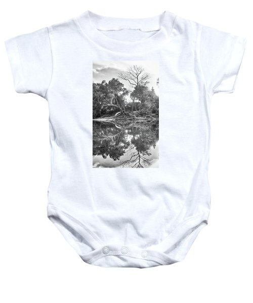 Reflections In Black And White Baby Onesie