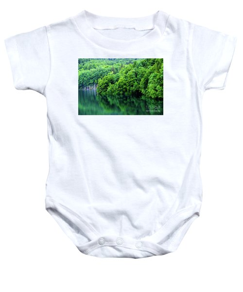 Reflections Of Plitvice, Plitvice Lakes National Park, Croatia Baby Onesie