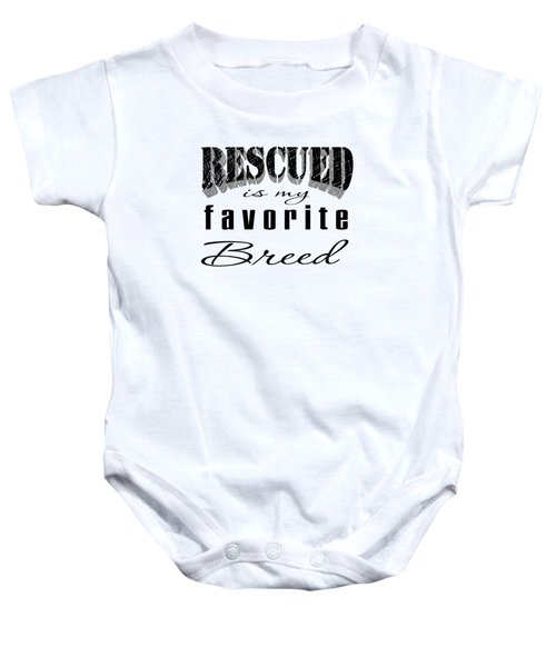 Rescued Pencil Dark Baby Onesie