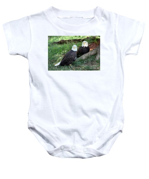 Resting Bald Eagles Baby Onesie