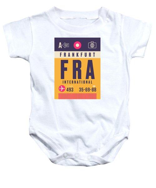 Retro Airline Luggage Tag - Fra Frankfurt Baby Onesie