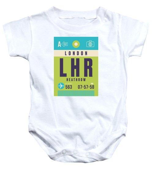 Retro Airline Luggage Tag - Lhr London Heathrow Baby Onesie