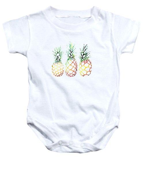 Retro Pineapples Baby Onesie