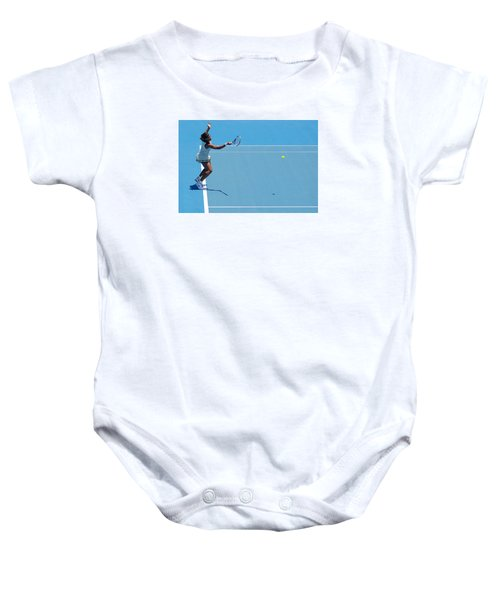 Return - Serena Williams Baby Onesie by Andrei SKY