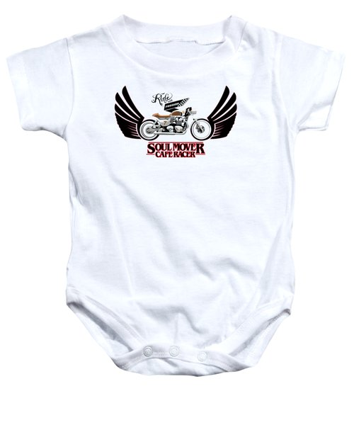 Ride With Passion Cafe Racer Baby Onesie