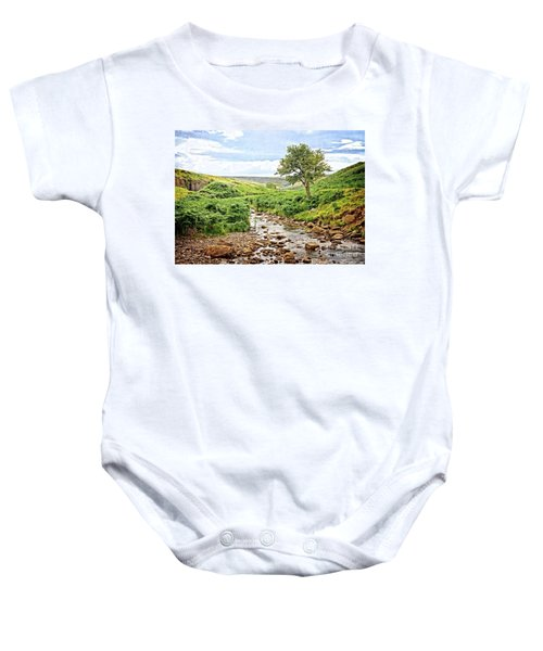 River And Stream In Weardale Baby Onesie