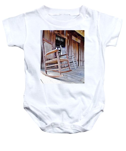 Rocking On The Front Porch Baby Onesie