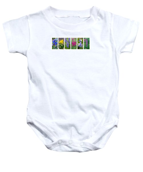 Rocky Mountain Wildflower Collection Baby Onesie by Aaron Spong