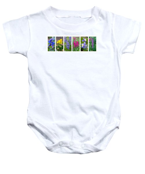 Rocky Mountain Wildflower Collection Baby Onesie