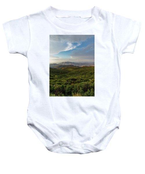 Rolling Hills Of Chaparral Baby Onesie