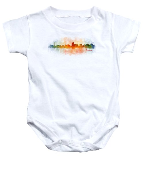 Rome City Skyline Hq V03 Baby Onesie