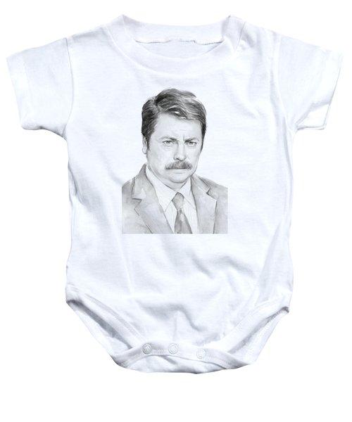 Ron Swanson  Baby Onesie