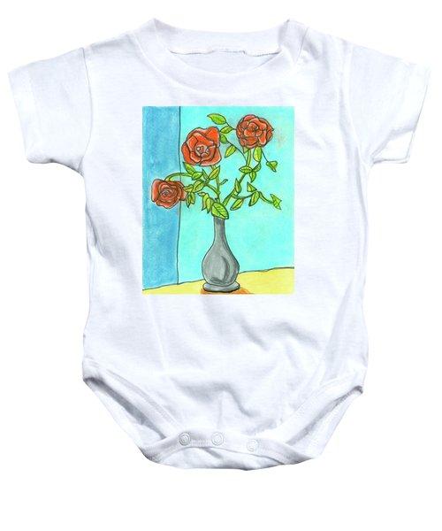 Roses R Red Baby Onesie