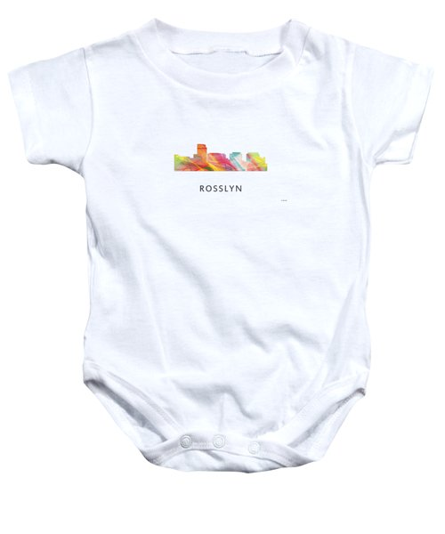 Rosslyn Virginia Skyline Baby Onesie by Marlene Watson