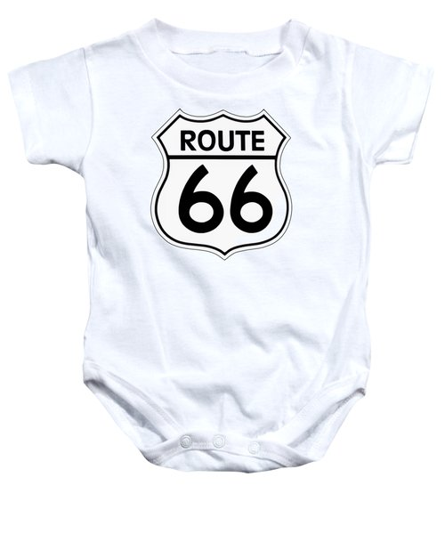 Route 66 Sign Baby Onesie