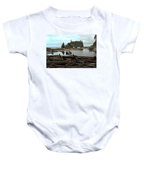 Ruby Beach Driftwood Baby Onesie