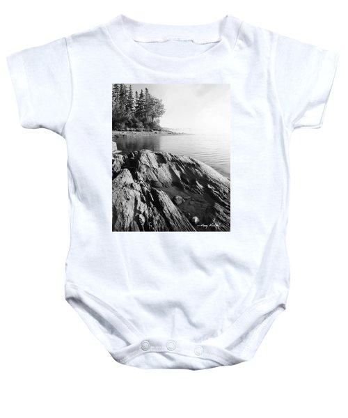 Rugged Lake Shore Baby Onesie
