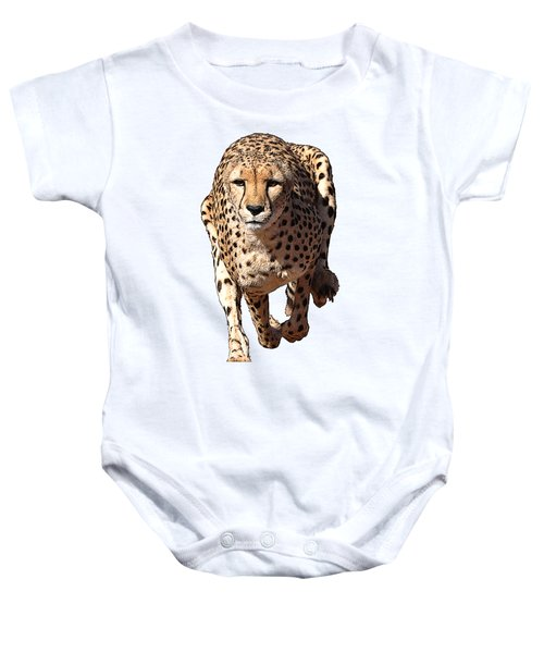 Running Cheetah Cartoonized #3 Baby Onesie