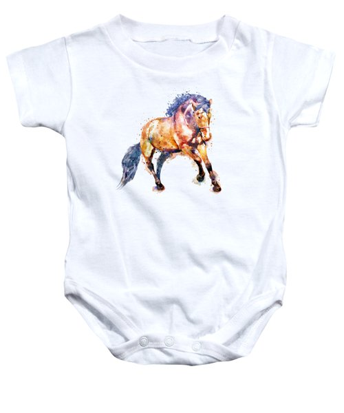 Running Horse Baby Onesie by Marian Voicu