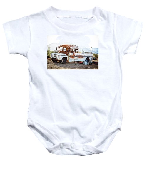 Rusted Abandoned Truck Baby Onesie