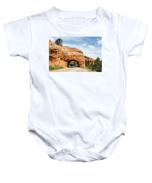 Rv Red Canyon Tunnel Utah Baby Onesie