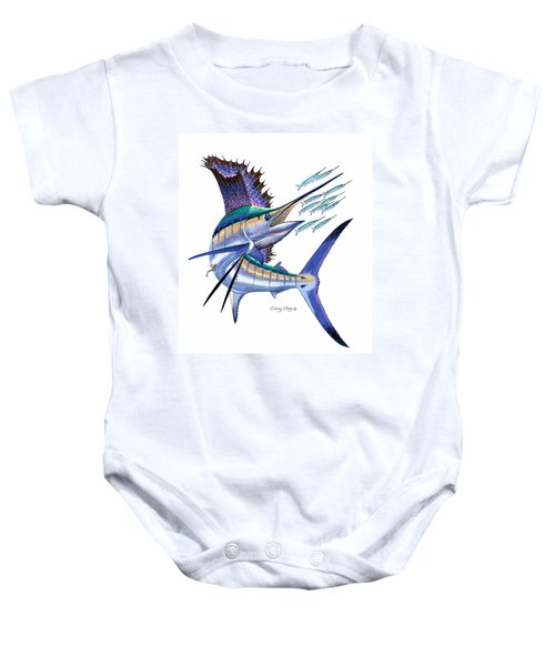 Sailfish Digital Baby Onesie by Carey Chen