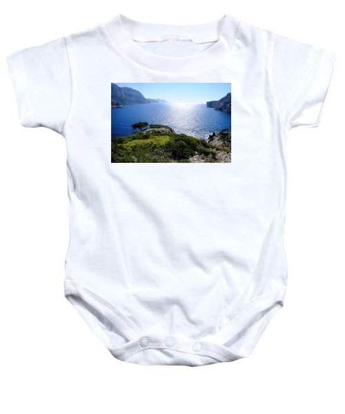 Sailing In The Vastness Baby Onesie