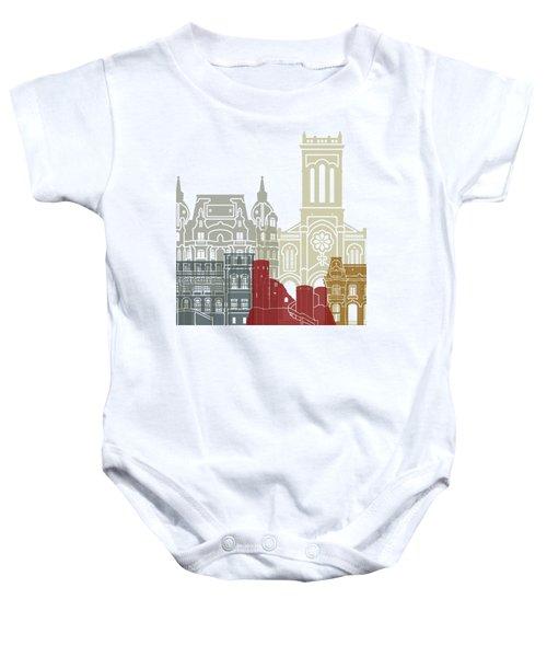 Saint Etienne Skyline Poster Baby Onesie