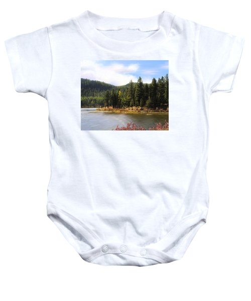 Salmon Lake Montana Baby Onesie