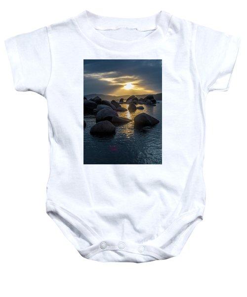 Sand Harbor Light Baby Onesie