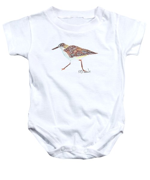 Sandpiper Bird Baby Onesie by Kathleen McElwaine