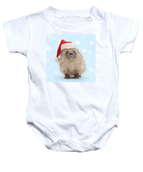 Santa's Prickly Pal Baby Onesie
