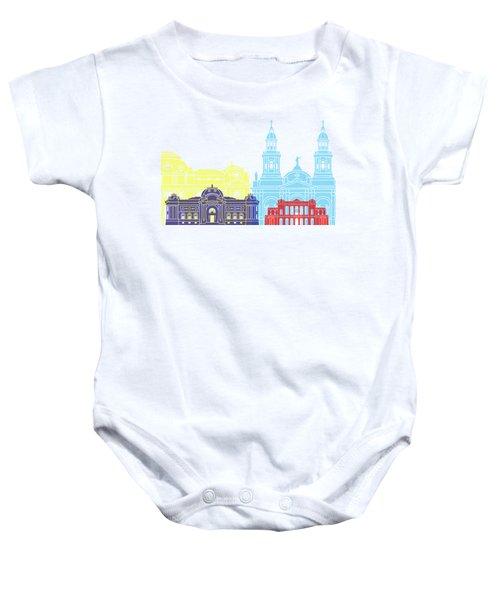 Santiago De Chile V2 Skyline Pop Baby Onesie