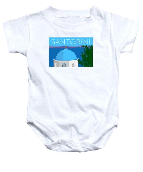 Santorini Dome - Blue Baby Onesie