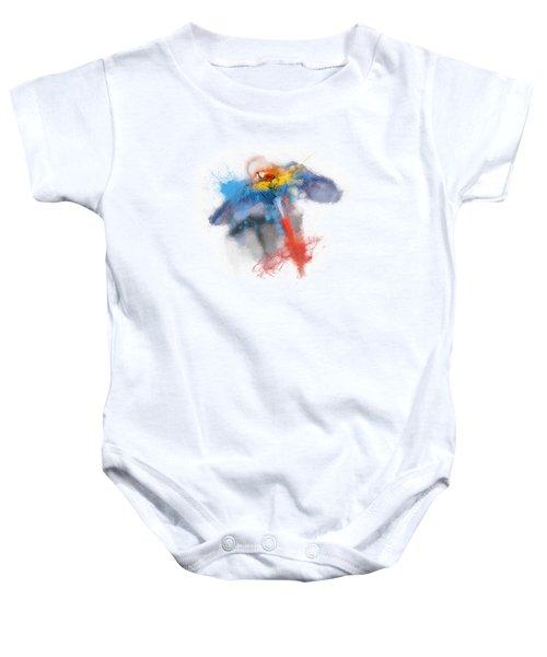 Scarlet Macaw No 03 Baby Onesie