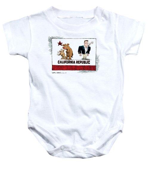 Schwarzenegger Love Child Flag Baby Onesie