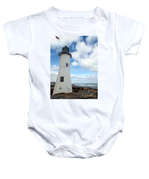 Scituate Light Baby Onesie