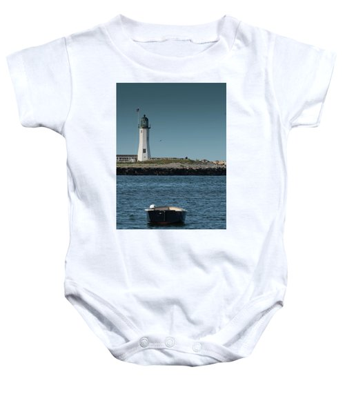 Scituate Lighthouse Baby Onesie