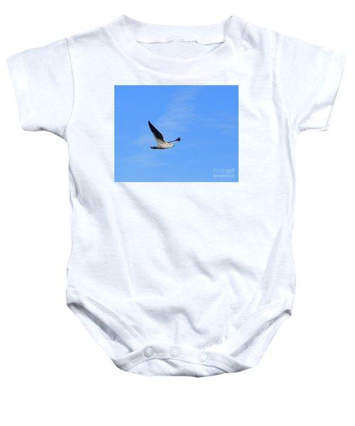 Seagull In Flight Baby Onesie