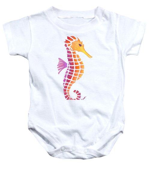 Seahorse Baby Onesie by Heather Schaefer